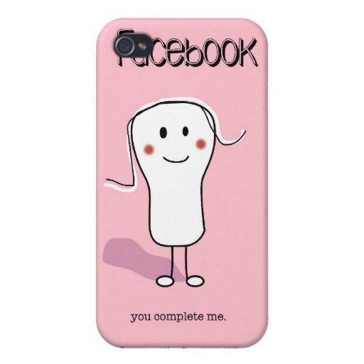 Puss agridulce de SSPG80-Facebook iPhone 4 Carcasas