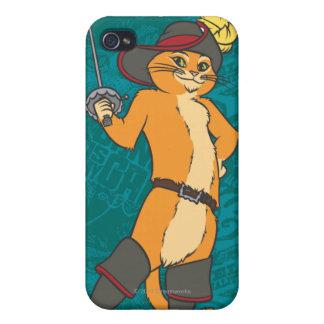 Puss Brandishes Sword iPhone 4 Cases