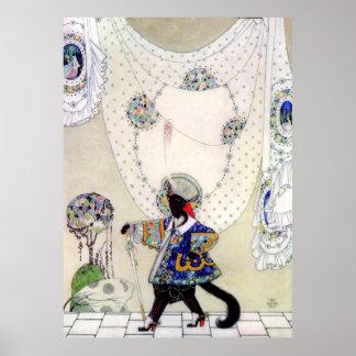 Puss de Kay Nielsen en botas Posters