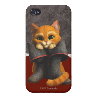 Puss de los jóvenes del CG iPhone 4 Carcasas