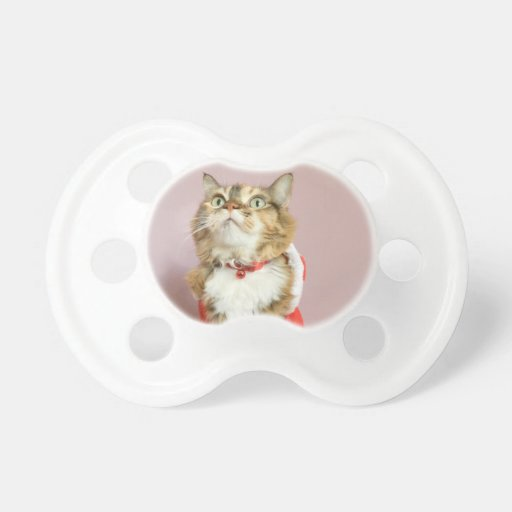 Puss de santa del gato de las Felices Navidad Chupetes De Bebe