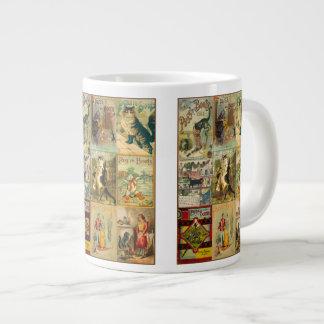 Puss del vintage en montaje del navidad de las taza de café grande