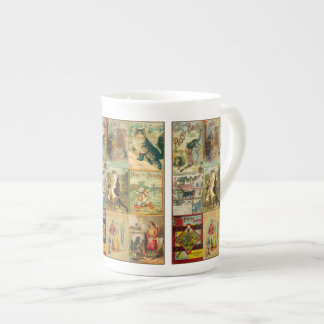 Puss del vintage en montaje del navidad de las taza de té