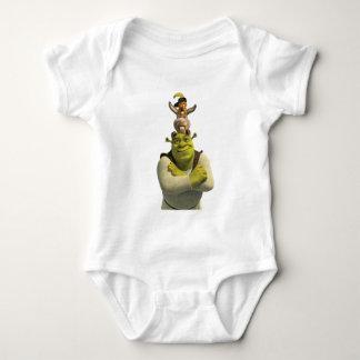 Puss en botas, burro, y Shrek Body Para Bebé