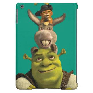 Puss en botas, burro, y Shrek Funda Para iPad Air