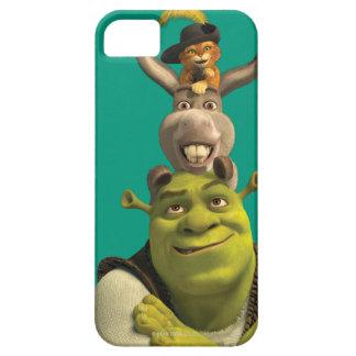 Puss en botas, burro, y Shrek Funda Para iPhone 5 Barely There