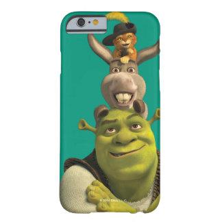 Puss en botas, burro, y Shrek Funda Para iPhone 6 Barely There