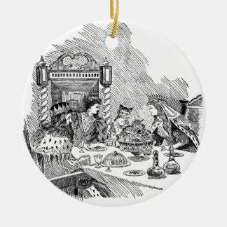 Puss en botas en el banquete ornamentos para reyes magos