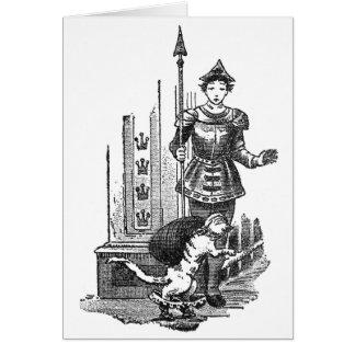 Puss en botas en el palacio tarjeta de felicitación