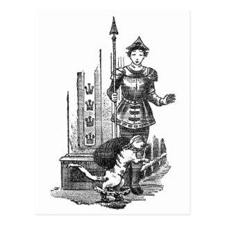 Puss en botas en el palacio tarjetas postales
