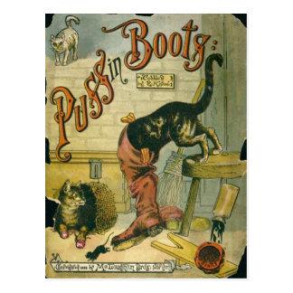 Puss en botas postales