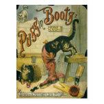 Puss en botas tarjeta postal