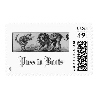 Puss en botas y el León-Ogro Estampilla