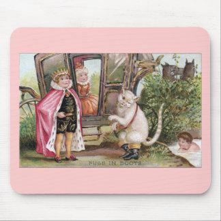 Puss en del rey Carriage de las botas y Alfombrillas De Ratón