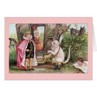 Puss en del rey Carriage de las botas y Tarjeta De Felicitación