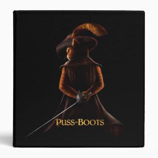 """Puss en el negro del poster de las botas carpeta 1 1/2"""""""