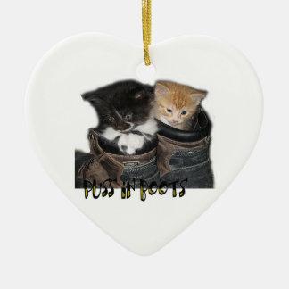Puss en fotografía de los gatitos de las botas ornamentos de reyes magos