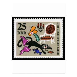 Puss en las botas 25 RDA 1968 Tarjeta Postal