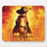 Puss en poster de las botas mousepad