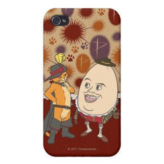 Puss & Humpty iPhone 4/4S Cover