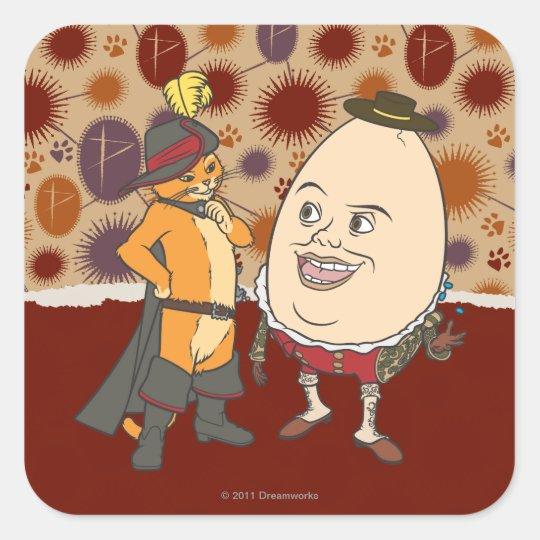 Puss & Humpty Square Sticker