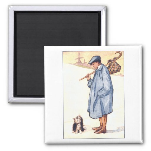 Puss in Boots 2 Inch Square Magnet
