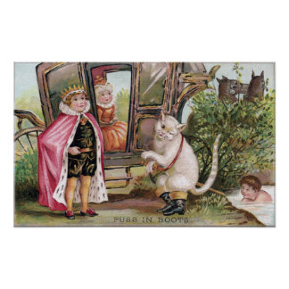 Puss in Boots and the King's Carriage Print