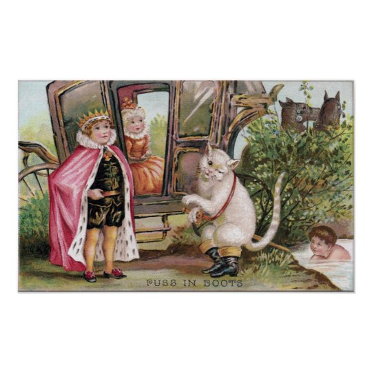 Puss in Boots and the King's Carriage Poster