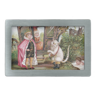 Puss in Boots and the King's Carriage Rectangular Belt Buckle