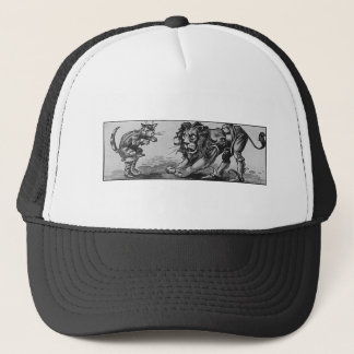 Puss in Boots and the Lion-Ogre Trucker Hat