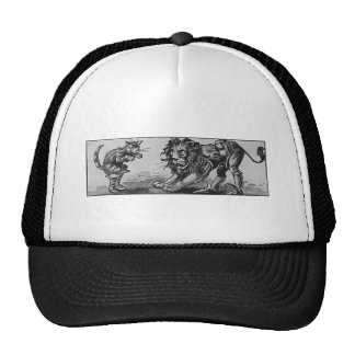 Puss in Boots and the Lion-Ogre Trucker Hats