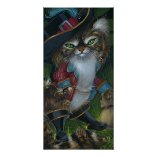 Puss in Boots ART PRINT Maine Coon Cat