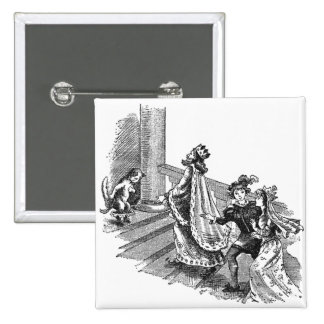 Puss in Boots at the Castle Entrance Pinback Button