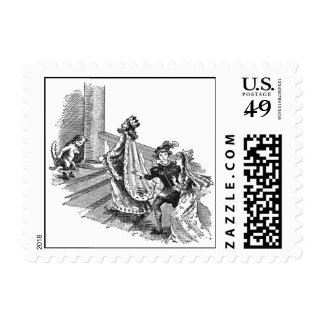 Puss in Boots at the Castle Entrance Postage Stamp