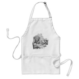 Puss in Boots at the Feast Adult Apron