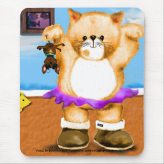 PUSS in BOOTS Ballet mouse match Mouse Pad