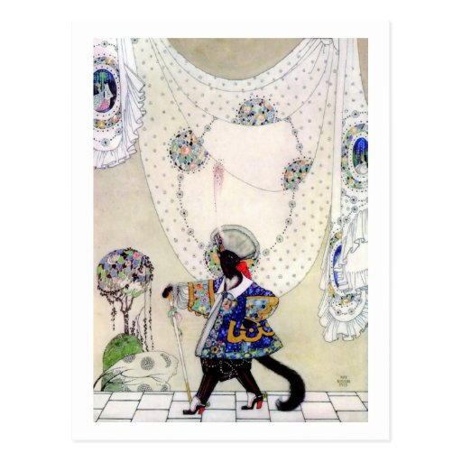 Puss In Boots By Kay Nielsen Post Cards