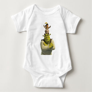 Puss In Boots, Donkey, And Shrek Baby Bodysuit