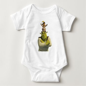 Puss In Boots  Donkey  And Shrek Baby Bodysuit by ShrekStore at Zazzle