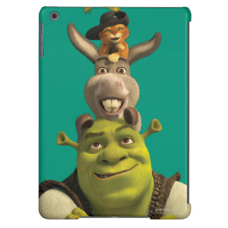 Puss In Boots, Donkey, And Shrek iPad Air Covers