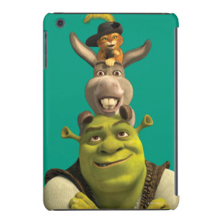 Puss In Boots, Donkey, And Shrek iPad Mini Cases