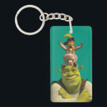 "Puss In Boots, Donkey, And Shrek Keychain<br><div class=""desc"">Check out these Puss In Boots, Donkey, And Shrek products! Personalize your own Shrek merchandise on Zazzle.com! Click the Customize button to insert your own name or text to make a unique product. Try adding text using various fonts &amp; view a preview of your design! Zazzle&#39;s easy to customize products...</div>"