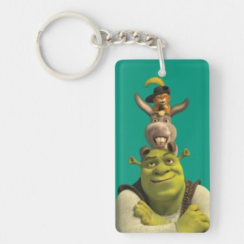 Puss In Boots  Donkey  And Shrek Keychain by ShrekStore at Zazzle