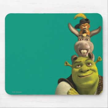 Puss In Boots  Donkey  And Shrek Mouse Pad by ShrekStore at Zazzle