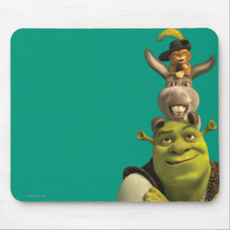 Puss In Boots, Donkey, And Shrek Mouse Pad