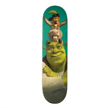 Puss In Boots  Donkey  And Shrek Skateboard Deck by ShrekStore at Zazzle
