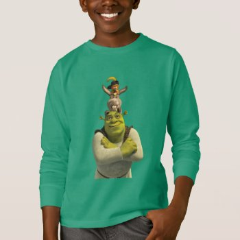 Puss In Boots  Donkey  And Shrek T-shirt by ShrekStore at Zazzle