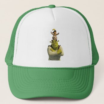 Puss In Boots  Donkey  And Shrek Trucker Hat by ShrekStore at Zazzle