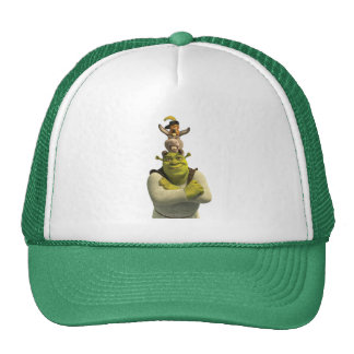 Puss In Boots, Donkey, And Shrek Trucker Hat