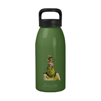 Puss In Boots, Donkey, And Shrek Reusable Water Bottles